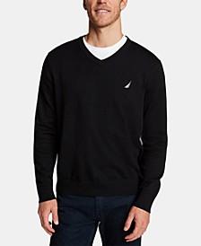 Men's Lightweight Jersey V-Neck Sweater