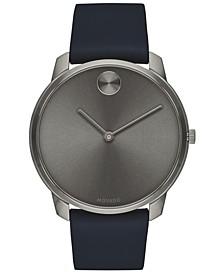 Men's Swiss BOLD Blue Nappa Leather Strap Watch 42mm