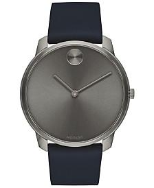 Movado Men's Swiss BOLD Blue Nappa Leather Strap Watch 42mm