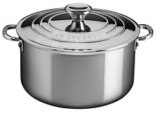 Le Creuset 6.33-Qt. Stainless Steel Deep Casserole with Lid