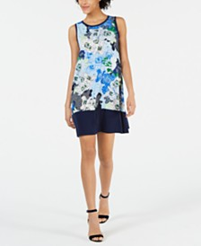 John Paul Richard Petite Floral-Print Dress