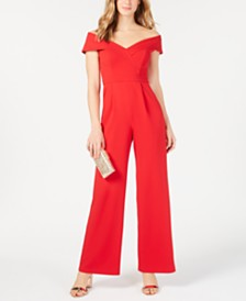 XSCAPE Petite Off-The-Shoulder Jumpsuit