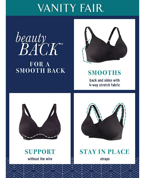 18e4fb963a97a Vanity Fair Full Figure Beauty Back Smoother Wireless Bra 71380 ...
