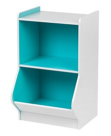 2-Tier Storage Organizer Shelf with Footboard