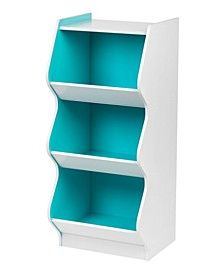 3 Tier Curved Edge Storage Shelf