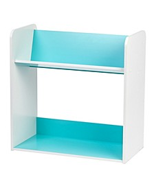 2-Tier Tilted Shelf Book Rack