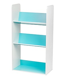3-Tier Tilted Shelf Book Rack