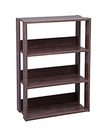 Mado 3-Shelf Wide Open Wood Shelving Unit