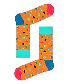 Medium Orange Diamond Sock