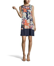 John Paul Richard Floral Print Shift Dress