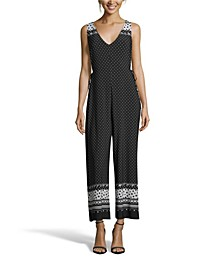 Black and White Sleeveless Jumpsuit