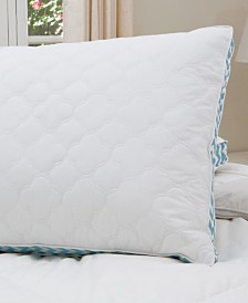 "Cottage Style Home Printed 2"" Gusset Quilted Pillow, King"