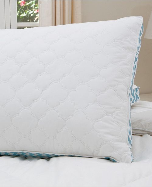 """Allied Home Cottage Style Home Printed 2"""" Gusset Quilted Pillow, Jumbo"""