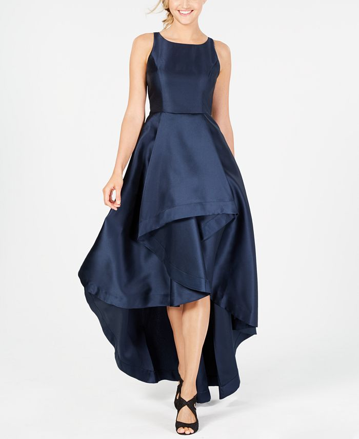 Adrianna Papell - High-Low Mikado Gown