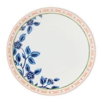 Northern Blossom Orange Border Melamine Salad Plate