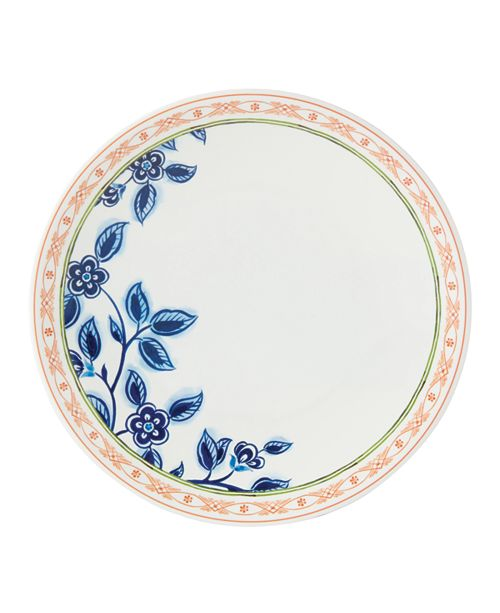 Dansk Northern Blossom Orange Border Melamine Salad Plate