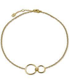 Argento Vivo Interlocking Ring Bracelet