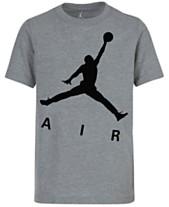 cfe908fc90d3f3 Jordan Big Boys Jumpman-Print Cotton T-Shirt