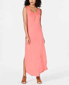 Style & Co Sleeveless Slit Maxi Dress, Created for Macy's