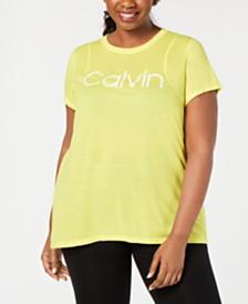 Calvin Klein Performance Plus Size Logo Racerback T-Shirt