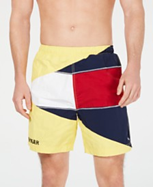 "Tommy Hilfiger Men's Tommy Jeans Colorblocked 7"" Shorts"