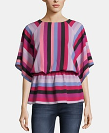 ECI Striped Peplum Top