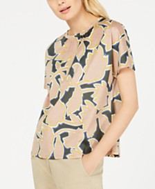 Weekend Max Mara Kastel Cotton Printed Top