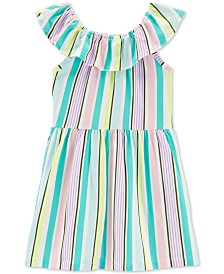 Carter's Toddler Girls Striped Ruffled Dress