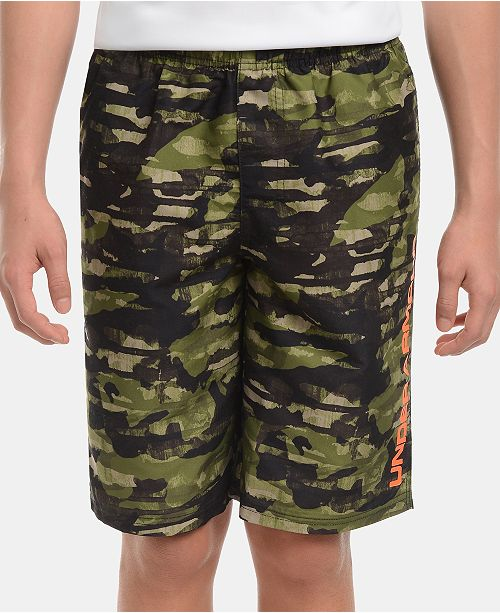 Under Armour Big Boys Camo-Print Grit Volley Swimsuit