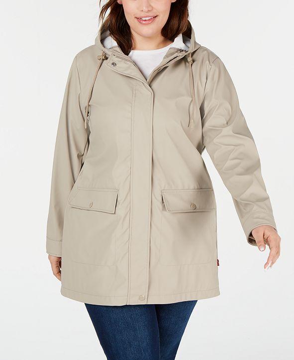 Levi's Trendy Plus Size Hooded Raincoat