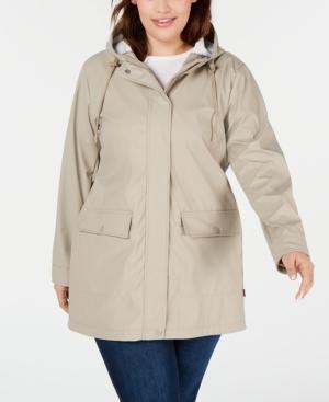 Levi's Coats TRENDY PLUS SIZE HOODED RAINCOAT