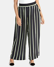 Plus Size Goldie Striped Wide-Leg Pants