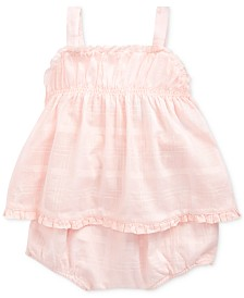Polo Ralph Lauren Baby Girls Cotton Top & Shorts Set