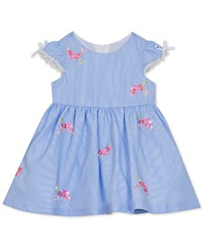 Rare Editions Baby Girls Floral-Embroidered Dress