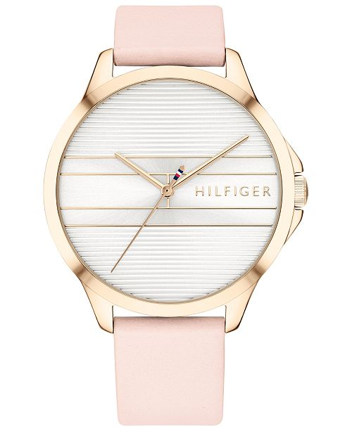 Tommy Hilfiger Women's Blush Leather Watch 38mm, Created for Macy's