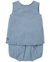 d6b1e06c0743d Polo Ralph Lauren Baby Girls Gingham Cotton Top   Shorts Set