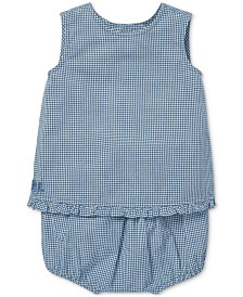 Polo Ralph Lauren Baby Girls Gingham Cotton Top & Shorts Set