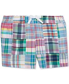 Polo Ralph Lauren Big Girls Patchwork Cotton Madras Shorts