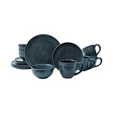 Sango Kain Blue 16 Piece Dinnerware Set