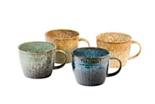 Sango Volcraft Mixed Set of 4 Assorted Soup Cups