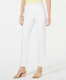 JM Collection Tummy Control Pull On Square Hardware Pants, Created for Macy's