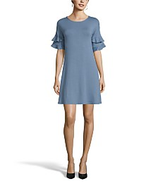 John Paul Richard Double Ruffle Sleeve Dress