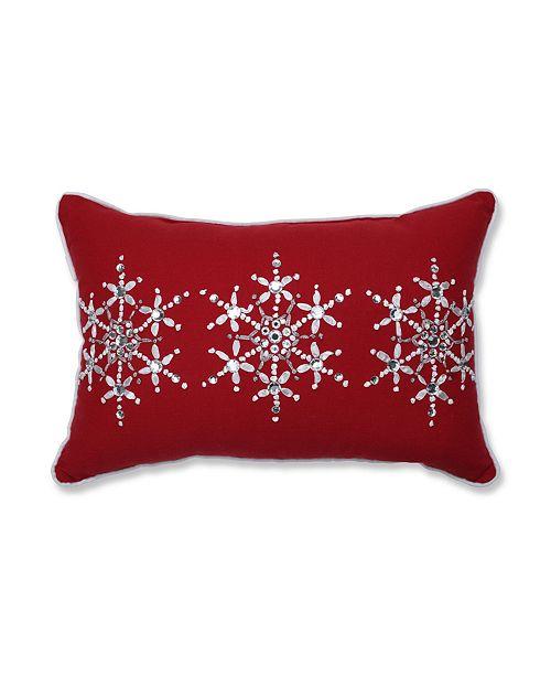 Pillow Perfect Jeweled Christmas Lumbar Pillow