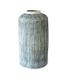 Canvas Home Large Taroudant Indigo Pillar Vase