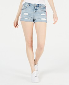 Superdry Steph Boyfriend Jean Shorts