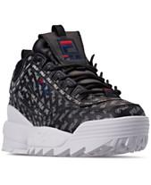 online retailer da694 b4afc Fila Women s Disruptor II Multiflag Casual Athletic Sneakers from Finish  Line