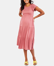 Motherhood Maternity Ruffled Dress