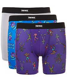 AME Big Boys 3-Pack Fortnite Graphic Boxer Shorts