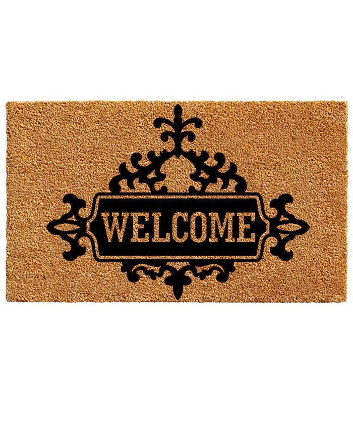 """Home & More - Courtyard Welcome 17"""" x 29"""" Coir/Vinyl Doormat"""