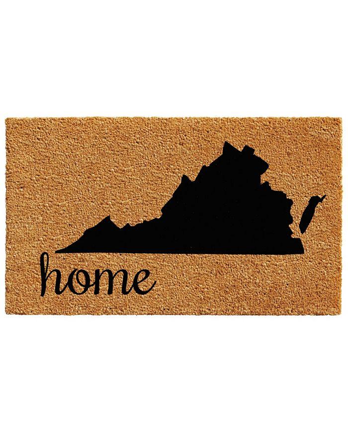 """Home & More - Virginia 18"""" x 30"""" Coir/Vinyl Doormat"""